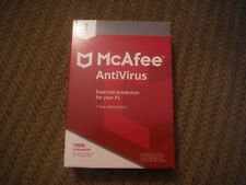 NEW McAfee AntiVirus 1 PC for 1 Year Subscription - Essential PC Protection