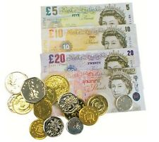 Play Fake Pretend Money Notes Coins £ Pounds Sterling Cash Role Play Shop Keeper