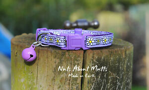 Lavender Daisy Chain cat collar FREE SHIPPING within Australia