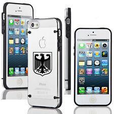For Apple iPhone 4 4s 5 5s 5c Clear Hard TPU Case Cover Germany German Eagle