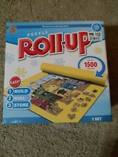 NEW PUZZLE ROLL UP STORAGE MAT 1,500 JIGSAW PIECES 24 x 42 Blue Telescope Tube