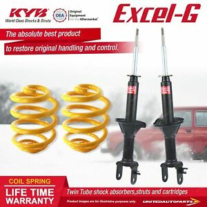 Front KYB EXCEL-G Shock Absorbers Lowered King Springs for FORD Fairlane NF NL