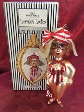 New Flawless Stunning Kurt S. Adler Glass Loralie'S Ladies Christmas Ornament