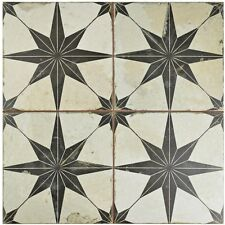 Old World Vintage Style Ceramic Floor and Wall Tiles (5 tiles, 11.1 SF Per Case)