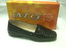 ladies slip on shoes MG Marcell black patent size 10
