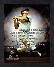 "MICKEY MANTLE ~ 8x10 Color Pro Quote Photo Picture ~ Framed 9x11 ~ ""HR Bases"""