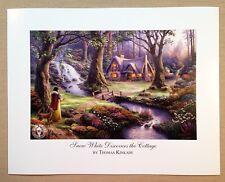 """Thomas Kinkade Open Edition DISNEY print """"Snow White Discovers the Cottage"""""""