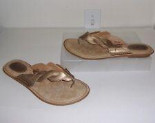 Boc Born Concept Gold Metallic Flip Flops Size 9 Shoes Thongs Sandals