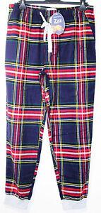 Peter Alexander Mens Navy Cotton Flannel Checked PJ Pant Sz  L, XL, XXL NWT