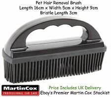 Pet Hair Removal Brush Rubber, Dogs Cats Fur Car Upholstery Carpet Seats Fabric