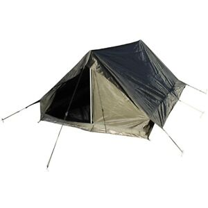 Französisches Zweimannzelt oliv Camping Outdoor Zelten Tarp