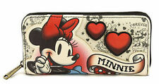 Loungefly Minnie Mouse Tattoo Mickey Heart Disney World Fantasy Movie Zip Wallet