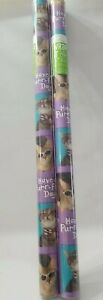 Hallmark Wrap It Gift Wrap Wrapping Paper 2 Cats Kittens Have a Purr-fect Day!