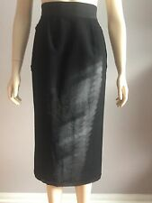 Dolce and Gabbana, AUTHENTIC, TAG SIZE (40), BLACK WITH POCKETS SKIRT