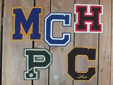 Vintage Varsity Chenille Letter Patches Group of 5 Sports Letterman Jacket Type