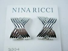 Earrings with Swarovski Crystals 1681 Nina Ricci Rhodium Plated Clip