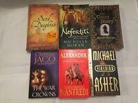 6x Historical Fiction Books Michael Asher Michelle Moran Christian Jacq