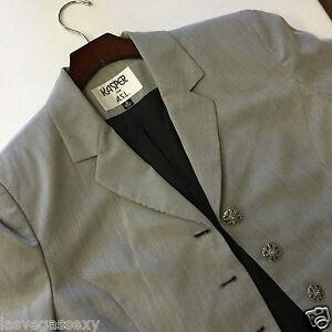 Kasper  Size 8   Gray  Skirt/Suit