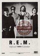 R.E.M. Fanclub Postcard Official 1994 Calendar