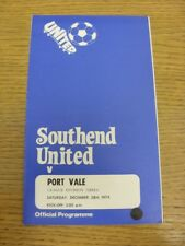 28/12/1974 Southend United v Port Vale  (Staples Removed). Thanks for viewing th