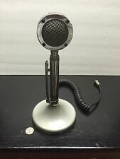Vintage Astatic D-104 Microphone w/ T-UG8 Stand, Great Shape!