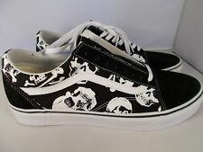 VANS Old Skool Skulls Black/White Skateboarding Shoes Men's Size 11.5 New In Box