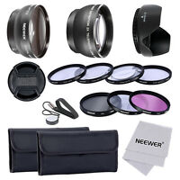 52MM 0.45x WIDE ANGLE LENS +2x TELEPHOTO LENS + UV+CPL+FLD FILTER + CLOSE-UP SET