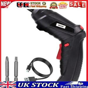 Electric Screwdriver Rechargeable Power Drill Screw Installation (Black)
