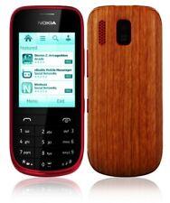 Skinomi Light Wood Full Body Skin+Screen Protector Cover for Nokia Asha 203