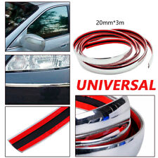 1PC 3M*20mm Car Chrome DIY Moulding Trim Strip For Grille Window Door Bumper