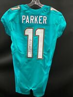 #11 MIAMI DOLPHINS DEVANTE PARKER SIGNED TEAM ISSUED AQUA JERSEY JSA WITNESS COA