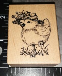 Psx. chickie Sunday  best, D1903,B213,wooden, rubber stamp