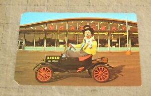 1969 ZEEZO THE CLOWN Promotional Photo Card - In Car at a SAFEWAY Grocery Store