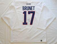 GAME WORN Canadiens Benoit Brunet + Autograph NHL Jersey CCM SZ56 W/MeiGray COA