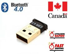 Bluetooth CSR 4.0 Dongle Adapter USB Bluetooth Receiver for Desktop, Laptop