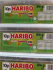 HARIBO GIANT SOUR SUCKERS 1 TUB OF RETRO SWEETS CANDY TREATS GIANT DUMMIES ZING