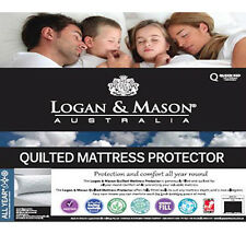 LOGAN AND MASON Quilted Mattress Protector SINGLE BED SIZE Premium brand NEW