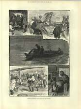 1883 American Fisheries Shad Fishing On The Delaware Hauling Nets