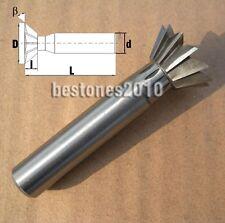 Lot 1pcs HSS Cutting Dia 60mm Degree 60°Dovetail Cutter End Mill Shank dia 20mm
