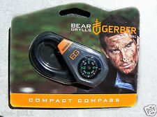Gerber Bear Grylls Survival Compact Durable Compass with Zipper pull 31-001777