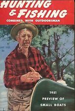 HUNTING & FISHING Magazine Complete 1951 12 Issues Outdoorsman