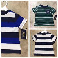 NEW boys polo ralph lauren short sleeve t-shirts striped 2T 3T 4 5 6 7 8 9 10-19