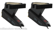 2 ORTOFON OM PRO S TURNTABLE CARTRIDGES - TWIN DJ SET / PHONO, Authorized Dealer