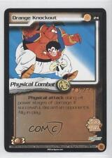 2002 Dragonball Z TCG: World Games Booster Pack Base 24 Orange Knockout Card 0a1