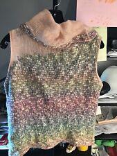 Diktons Barcelona, Women's Sleeveless Turtleneck Sweater Multi Color Size L