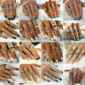 Retro 12pcs/set Silver Gold Boho Arrow Moon Flower Midi Finger Knuckle Rings