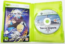 TALES OF VESPERIA XBOX 360 Video Game Used with Manual and Case