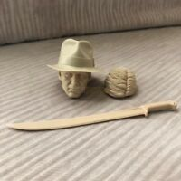 Unpainted 1/6 scale Indiana Jones Raiders of the Lost Ark head sculpt 4 a lot