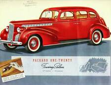 Old Print. Red 1940 Packard One-Twenty Touring Sedan Auto Ad