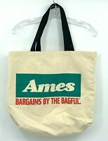 Ames Department Store Vintage Shopping Canvas Tote Bag Defunct 90's 80's Retro